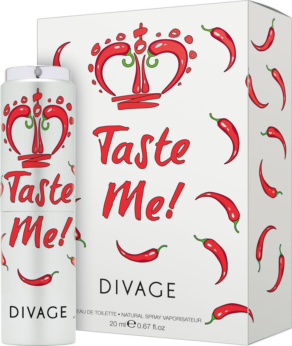 Divage Туалетная Вода Taste me 20 млDVEDT009Пленительный, цветочно-перечный аромат, который тревожит сердца и заставляет их биться чаще! Неповторимое сочетание яблока, малины и бергамота, дополненное перечными нотками, кардамоном, османтусом, жасмином, гарденией и фиалкой, создает невероятный аромат страсти и чувственного наслаждения. Украшением композиции являются нотки кедра, сандала, пачули, мускуса и пралине. Таинственный и роскошный, соблазнительный и чарующий – это все о новом аромате Taste Me. Попробуй и убедись сама!Краткий гид по парфюмерии: виды, ноты, ароматы, советы по выбору. Статья OZON Гид