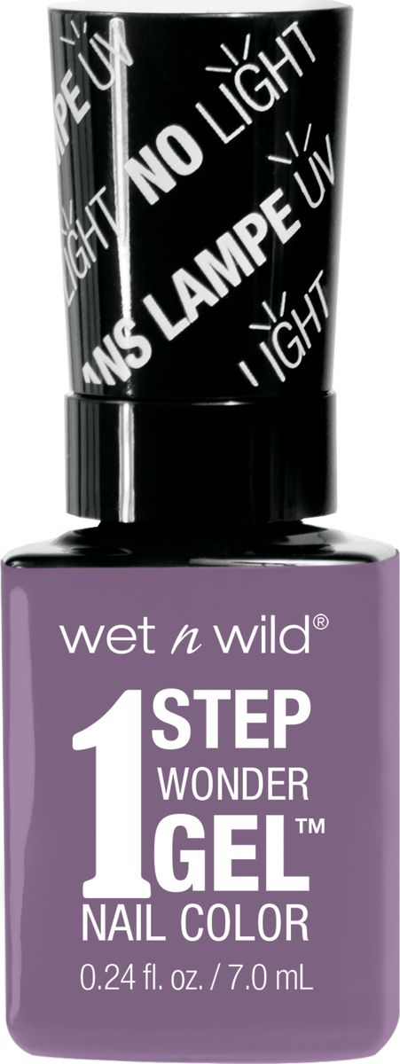 Wet n Wild Гель-лак для ногтей 1 Step Wonder Gel Е7281 lavender out loudE7281Лак держится до двух недель. Сохнет без использования ультрафиолетовой лампы, легко удаляется и не повреждает ногтевую пластину, не содержит толуола и фталатов.Как ухаживать за ногтями: советы эксперта. Статья OZON Гид