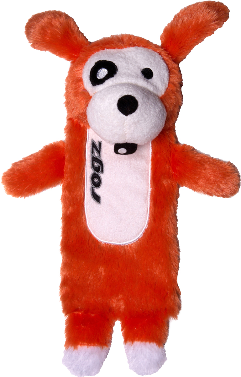 Игрушка для собак Rogz  Thinz. Собака , цвет: оранжевый, длина 26 см - Игрушки