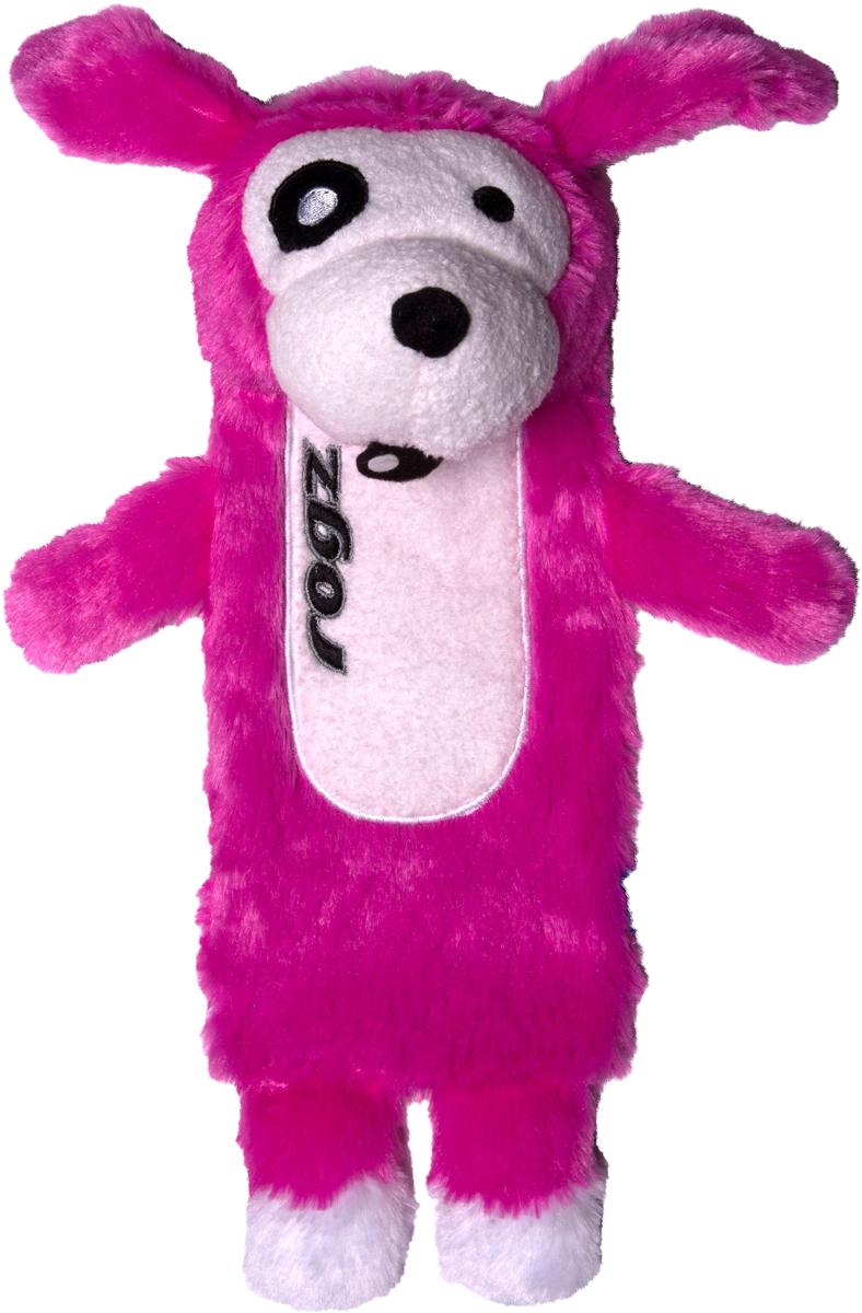 Игрушка для собак Rogz  Thinz. Собака , цвет: розовый, длина 26 см - Игрушки