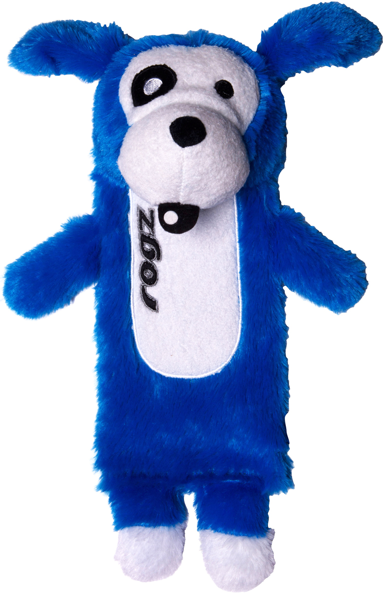 Игрушка для собак Rogz  Thinz. Собака , цвет: синий, длина 33 см