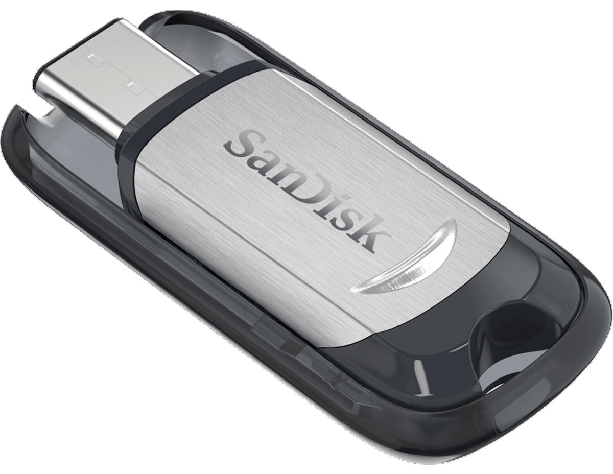 SanDisk Ultra Type-C 64GB, Black Silver USB-накопитель - Носители информации