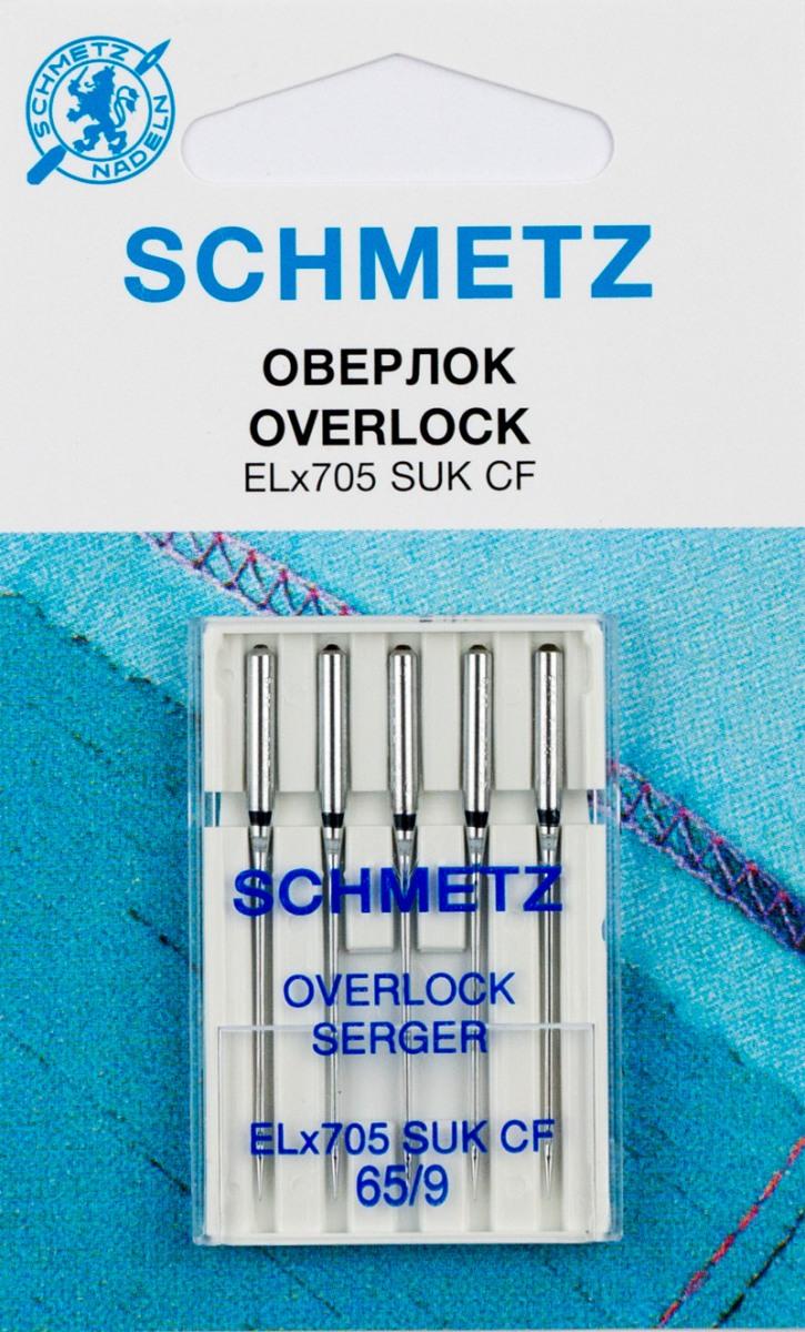 """Иглы для бытовых швейных машин """"Schmetz"""", для джерси, №65, 5 шт"""