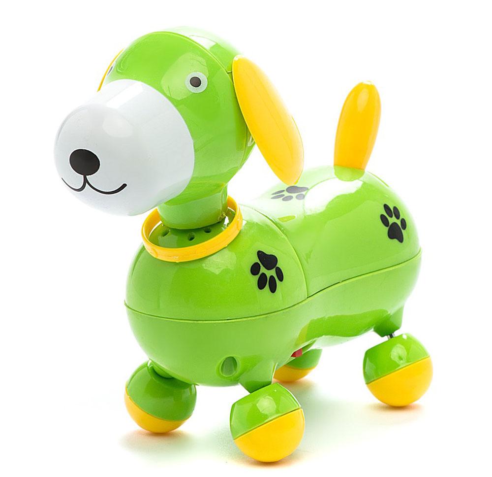 Mommy Love Электронная развивающая игрушка Веселый щенок цвет зеленый, Dream Makers