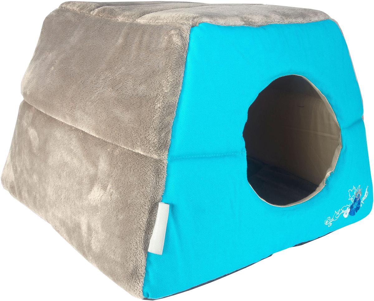 Домик-трансформер для кошек Rogz Igloo, цвет: голубой, 41 х 41 х 30 смCIP04Все знают, как маленькие домашние любимцы любят прятаться и наслаждаться отдыхом в уютном и закрытом от глаз укрытии.Домик-трансформер для кошек Rogz Igloo создан для того, чтобы обеспечить самый сладкий сон вашему питомцу.Два в одном: одно движение и уютный домик превращается в комфортный лежак! Идеальное убежище для вашей кошки, когда она хочет отдохнуть.
