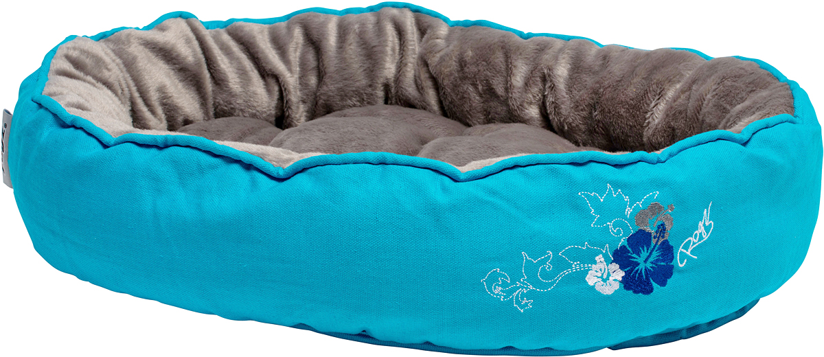 Лежак для кошек Rogz Snug Podz, 13 х 56 х 39 см, цвет: голубойCPM04Лежак для кошек Rogz Snug Podz имеет красивый дизайн.Высококачественный хлопковыйобеспечивает мягкость и комфорт.Флисовая подкладка.Машинная стирка.