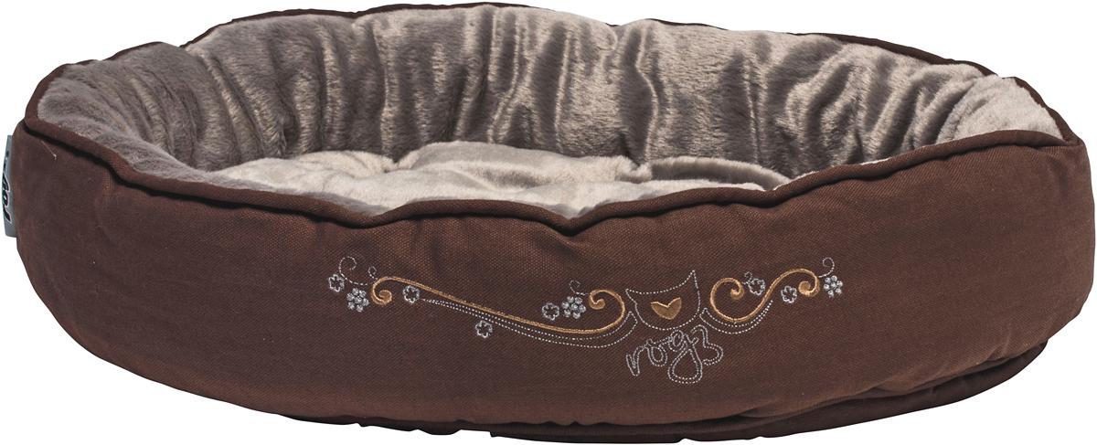 Лежак для кошек Rogz Snug Podz, 13 х 56 х 39 см, цвет: коричневыйCPM07Лежак для кошек Rogz Snug Podz имеет красивый дизайн.Высококачественный хлопковыйобеспечивает мягкость и комфорт.Флисовая подкладка.Машинная стирка.