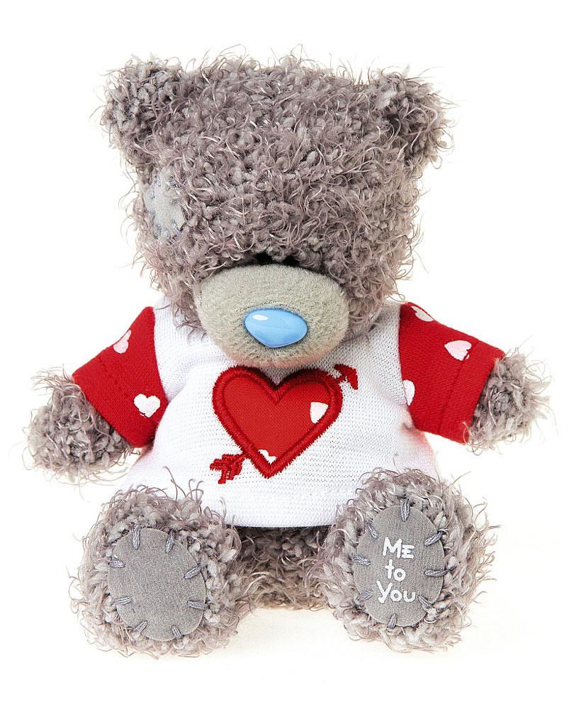 Me to You Мягкая игрушка Мишка Тедди в футболке 10 см наклейка панно me to you мишка тедди и олень 16х23 см