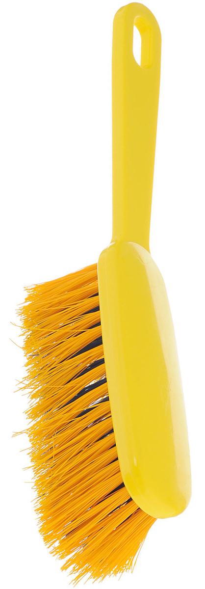 Щетка-сметка Хозяюшка Мила Жасмин, цвет: желтый, синий, 28 х 4,5 х 6 см щетка сметка хозяюшка мила жасмин длина 28 5 см