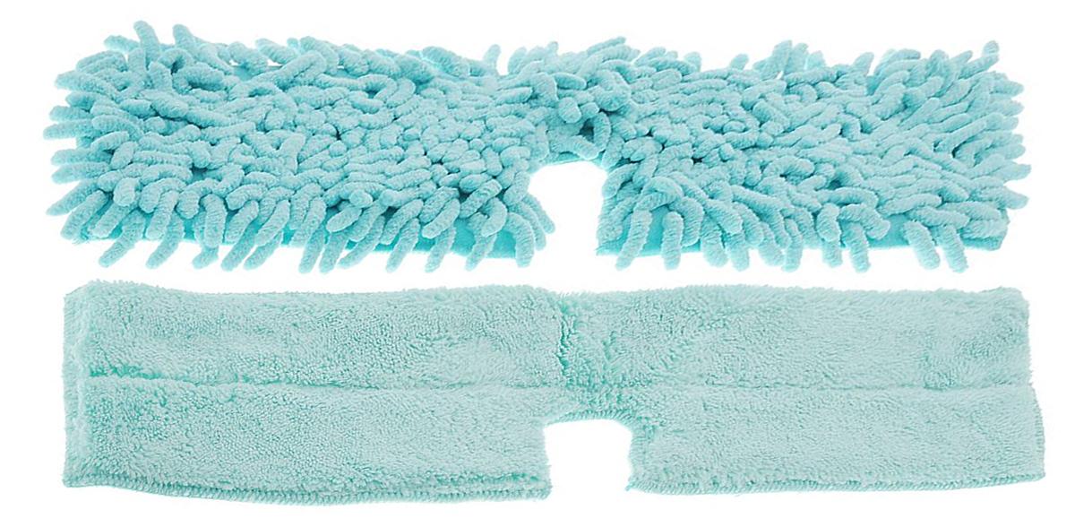 Насадка для двухсторонней швабры Home Queen Еврокласс, цвет: бирюзовый, длина 40 см57983_бирюзовыйСменная насадка для двухсторонней швабры Home Queen Еврокласс изготовлена из шенилла, разновидности микрофибры. Материал обладает высокой износостойкостью, не царапает поверхности и отлично впитывает влагу. Насадка отлично удаляет большинство жирных и маслянистых загрязнений без использования химических веществ. Насадка идеально подходит для мытья всех типов напольных покрытий. Она не оставляет разводов и ворсинок. Сменная насадка для швабры Home Queen Еврокласс станет незаменимой в хозяйстве. Стирать вручную без использования кондиционера и отбеливателя, при температуре 60-90°С.Ширина насадки: 12 см.Длина насадки: 40 см.