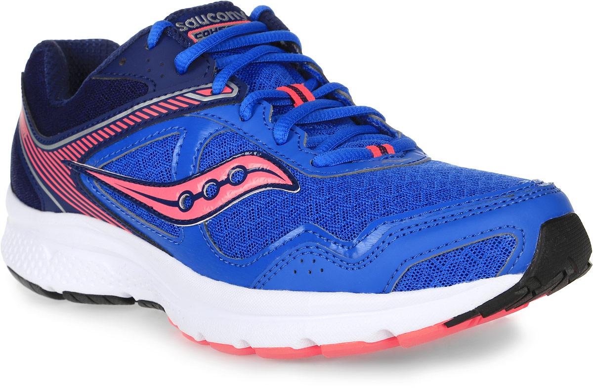 Кроссовки для бега женские Saucony Grid Cohesion 10, цвет: синий, коралловый. S15333-2. Размер 8 (38)