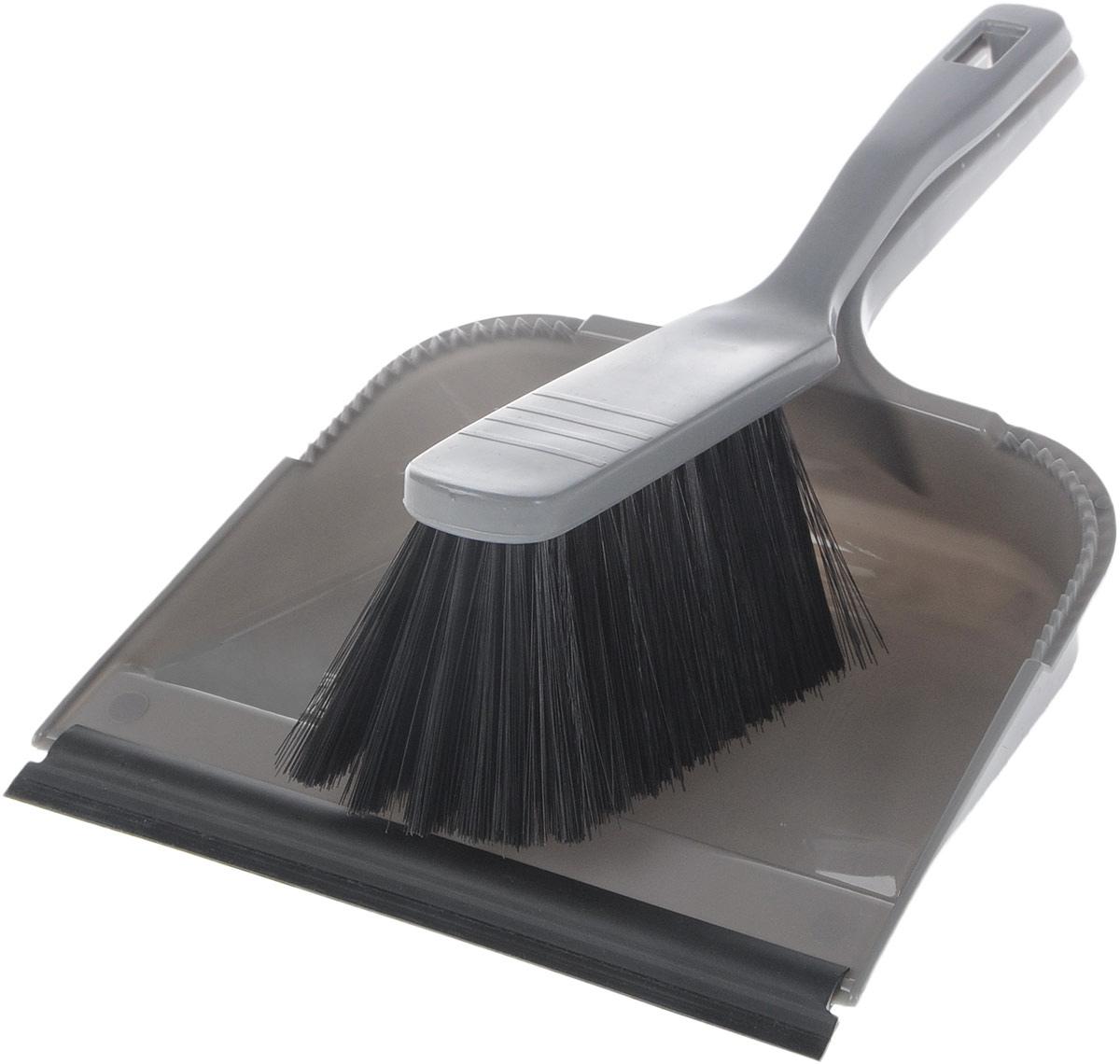 Набор для уборки Svip София, с кромкой, цвет: серый, 2 предметаSV3028СБНабор для уборки Svip София состоит из щетки-сметки и совка, выполненных из полипропилена. Он станет незаменимым помощником в деле удаления пыли и мусора с различных поверхностей. Ворс щетки достаточно длинный, что позволяет собирать даже крупный мусор. Края совка оснащены зубчиками для чистки щетки после ее использования. Совок имеет резиновую кромку, благодаря которой удобнее собирать мусор. Ручка совка позволяет прикреплять его к рукоятке щетки. На рукояти изделий имеется специальное отверстие для подвешивания. Длина щетки-сметки: 28 см. Длина ворса: 6,5 см. Размер рабочей поверхности совка: 21,5 см х 19,5 см.Размер совка (с учетом ручки): 33,2 см х 21,5 см х 6 см.