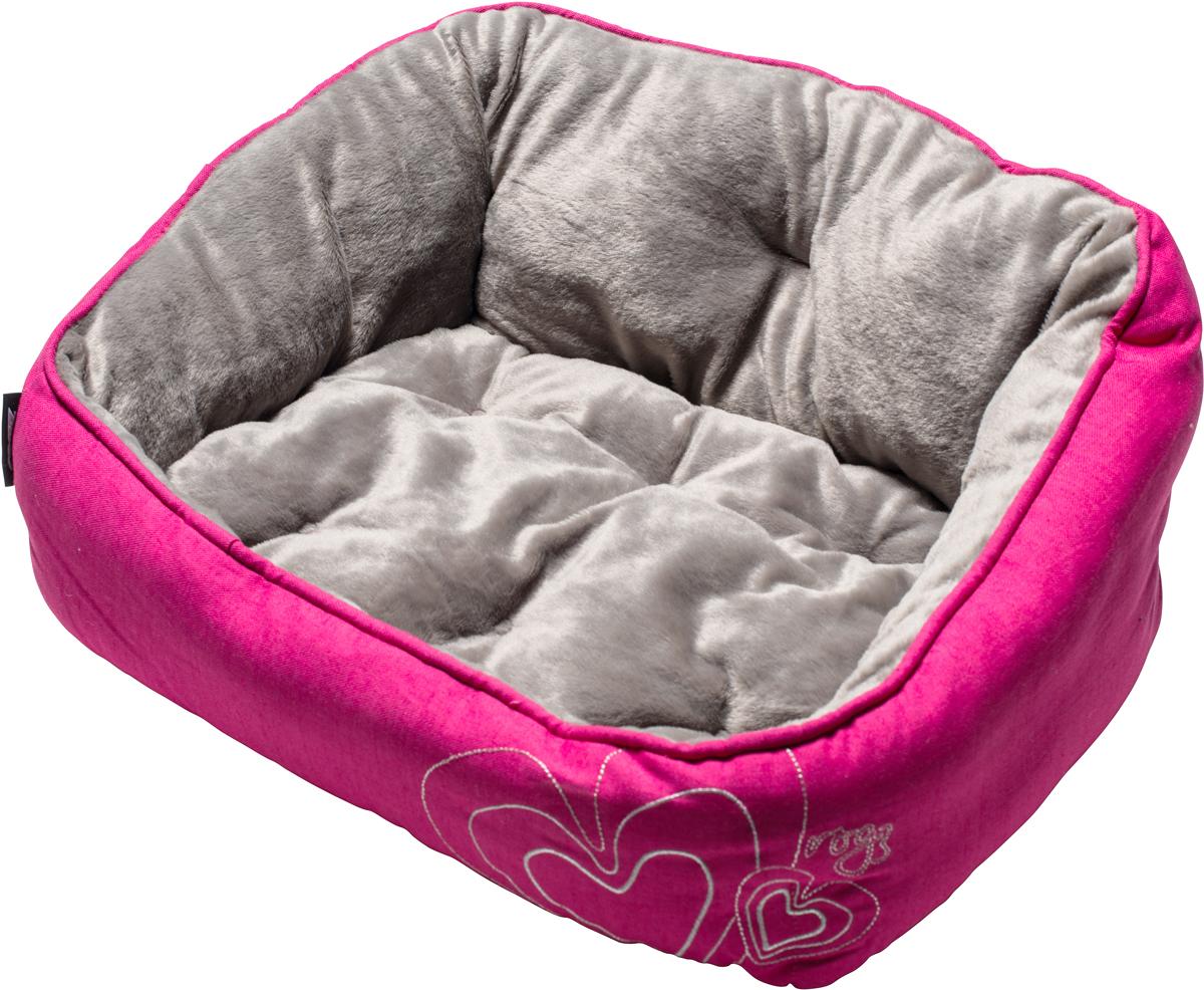 Лежак для собак Rogz Luna Podz, цвет: розовый, 25 х 52 х 38 смUPS05Двусторонняя подушка-лежак для собак Rogz Luna Podz имеет уникальный дизайн. Изделие очень мягкое и уютное.Такой лежак подарит комфорт вашему питомцу.