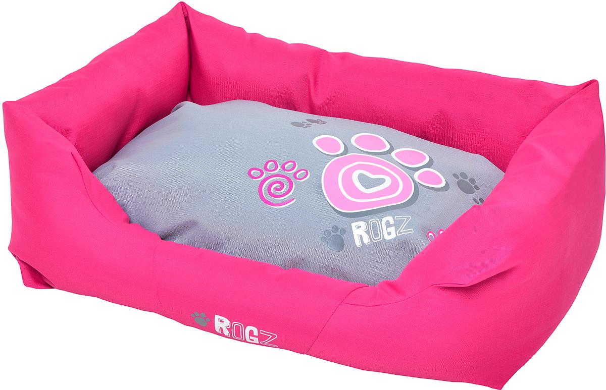 Лежак для собак Rogz Spice Podz, цвет: розовый, 29 х 90 х 59 см. PPLCA ас зоо лежак с бортиком пэчворк 2 49х38