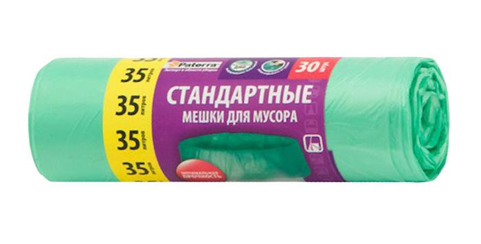 Мешки для мусора Paterra, цвет: зеленый, 35 л, 30 шт106-055Мешки Paterra, выполненные извысокопрочного и эластичного полиэтилена, обеспечатчистоту и гигиену в квартире. Они удобны для сбора иутилизации мусора,занимают мало места, практичны в использовании. Благодаря удобным размерам, мешки легко вкладываются в ведро.Количество: 30 шт.Размер мешка: 52 х 57 см.
