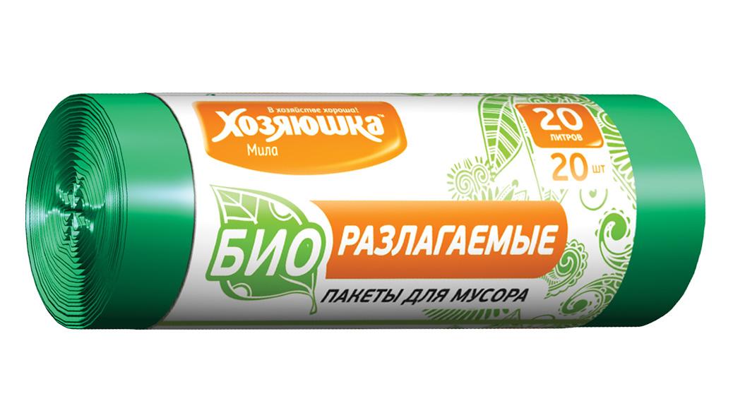 Пакеты для мусора Хозяюшка Мила, биоразлагаемые, цвет: зеленый, 20 л, 20 шт07024Биоразлагаемые пакеты для мусора Хозяюшка Мила созданы из материалов, которые после использования разлагаются за 1,5-2 года под действием кислорода, воды и света и превращаются в органические соединения. Поэтому биоразлагаемые пакеты не оказывают негативного воздействия на природу и в последнее время пользуются всё большим спросом. Данный вид пакетов полностью аналогичен обычным пакетам для мусора по прочности и внешнему виду.Объем мешка: 20 л.Количество в упаковке: 20 шт.Длина мешка: 57 см.
