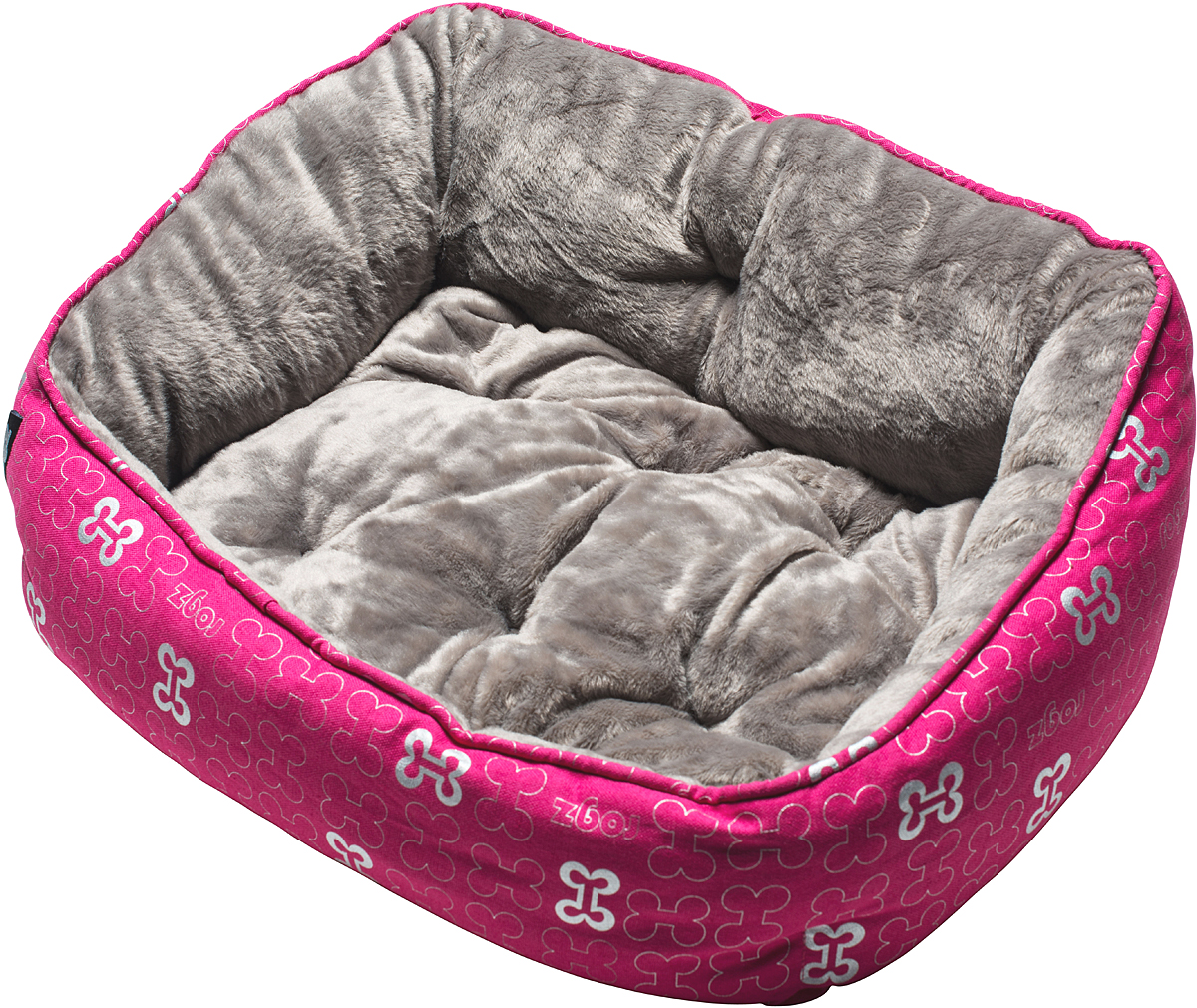 Лежак для собак Rogz Trendy Podz, цвет: розовый, 29 х 56 х 43 смRPM05Очень мягкий и комфортный лежак для собак Rogz Trendy Podz.Флисовые бортики внутри изделия.Двусторонняя подушка.Уникальный дизайн.Подвергается стирке.