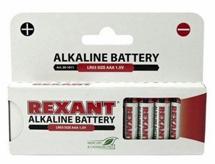 Батарейка алкалиновая Rexant, тип AAA (LR03), 1,5В, 12 шт30-1011Алкалиновые батарейки AAA/LR03 Rexant 12 шт в блистерной упаковке. Номинальное напряжение: 1,5 V. Номинальная емкость: 1200 mAh. Тип батарейки: Zn/MnO2.