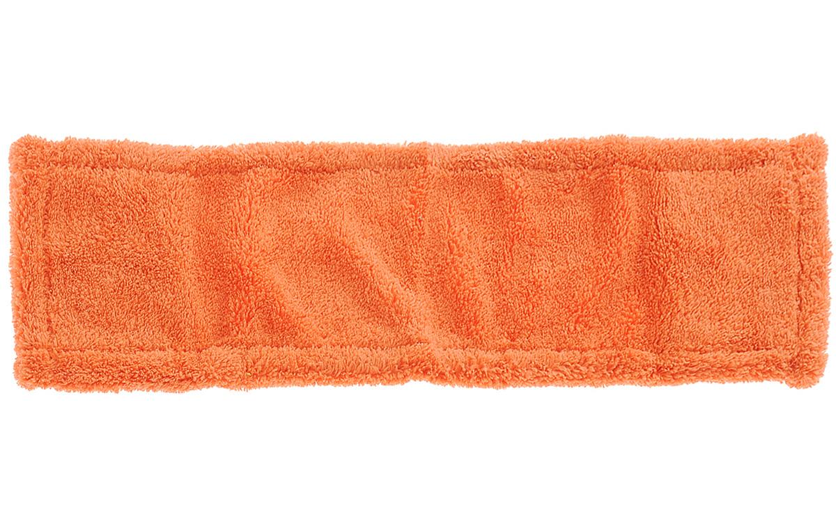 Насадка для швабры York Классик, сменная, цвет: оранжевый. 81098109_оранжевыйСменная насадка для швабры York Классик изготовлена из микрофибры (полиамид, полиэстер). Микрофибра обладает высокой износостойкостью, не царапает поверхности и отлично впитывает влагу. Насадка отлично удаляет большинство загрязнений. Насадка идеально подходит для мытья всех видов напольных покрытий. Она не оставляет разводов и ворсинок. Сменная насадка для швабры York Классик станет незаменимой в хозяйстве.Насадку можно стирать при температуре 40°С.Размер насадки: 40 х 14 х 1,5 см.