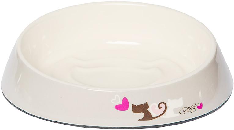 Миска для кошек Rogz  Fishcake , с противоскользящим дном, цвет: белый, 200 мл. CBOWL31G - Аксессуары для кормления