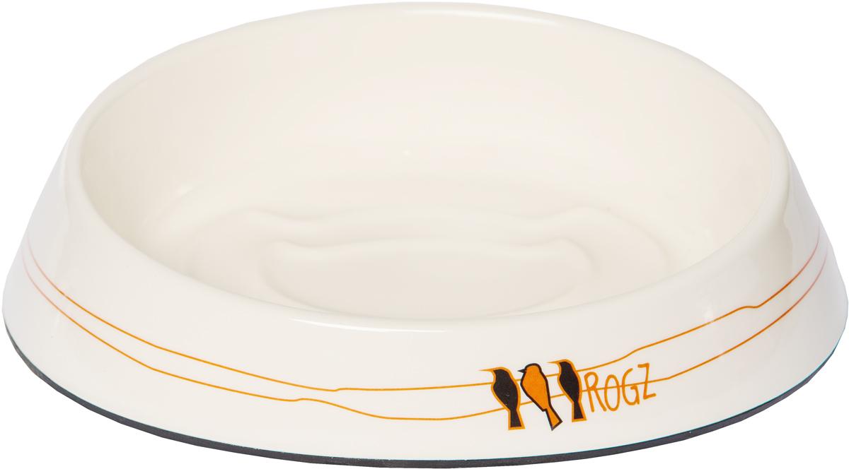 Миска для кошек Rogz  Fishcake , с противоскользящим дном, цвет: белый, 200 мл. CBOWL31I