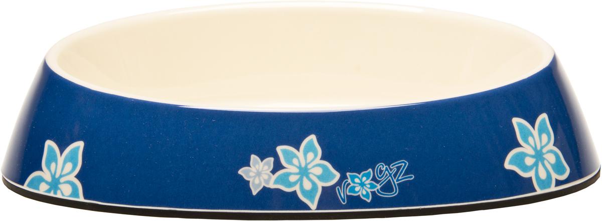 Миска для кошек Rogz  Fishcake , с противоскользящим дном, цвет: синий, 200 мл. CBOWL31B - Аксессуары для кормления