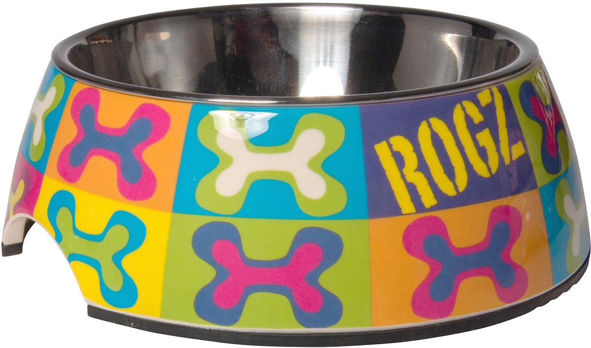 Миска для собак Rogz Fancy Dress, цвет: голубой, оранжевый, желтый, 160 млBOWL01BWУникальный дизайн миски для собак Rogz Fancy Dress 2 в 1: корпус из меламина и вынимаемая миска из нержавеющей стали.Ударопрочный материал изделия нетоксичен и полностью отвечает всем гигиеническим требованиям.Высокая защита от коррозии и воздействия УФ лучей.Основание миски выполнено из натурального, нетоксичного силикона, что позволяет избежать скольжения по полу.Возможна мойка в посудомоечной машине. Материал: нержавеющая сталь, меламин, силикон (дно).