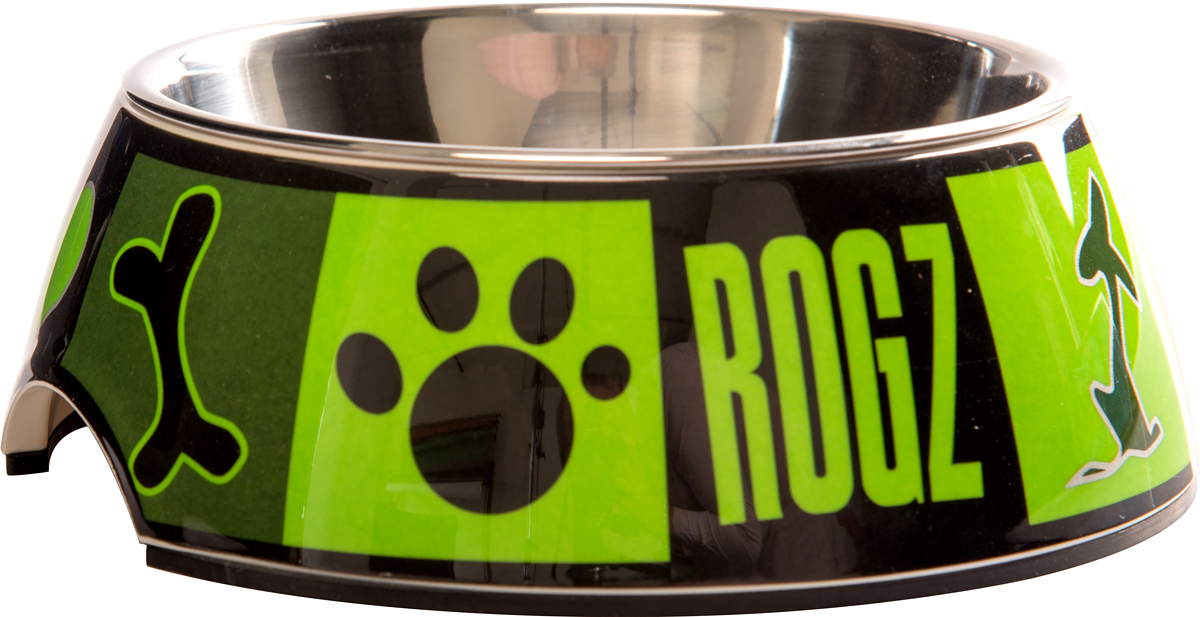 Миска для собак Rogz  Fancy Dress , цвет: зеленый, 160 мл - Аксессуары для кормления
