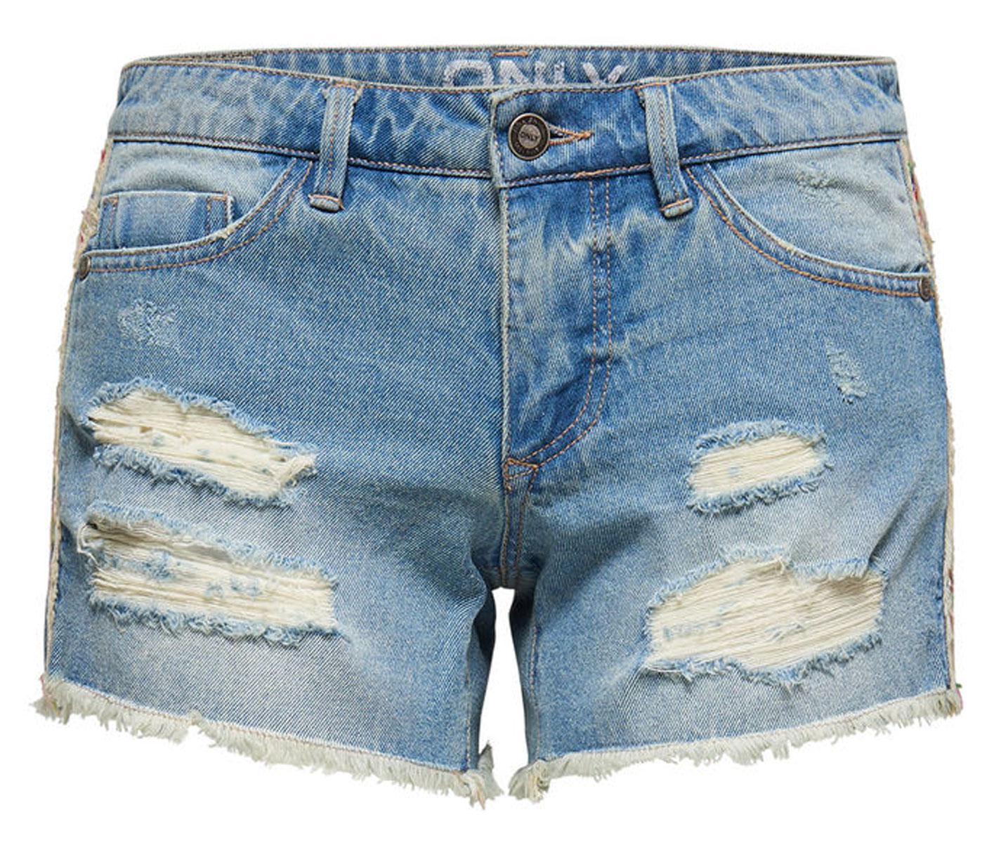 Шорты женские Only, цвет: синий. 15134624_Light Blue Denim. Размер 27 (42/44) шорты женские only цвет синий 15134356
