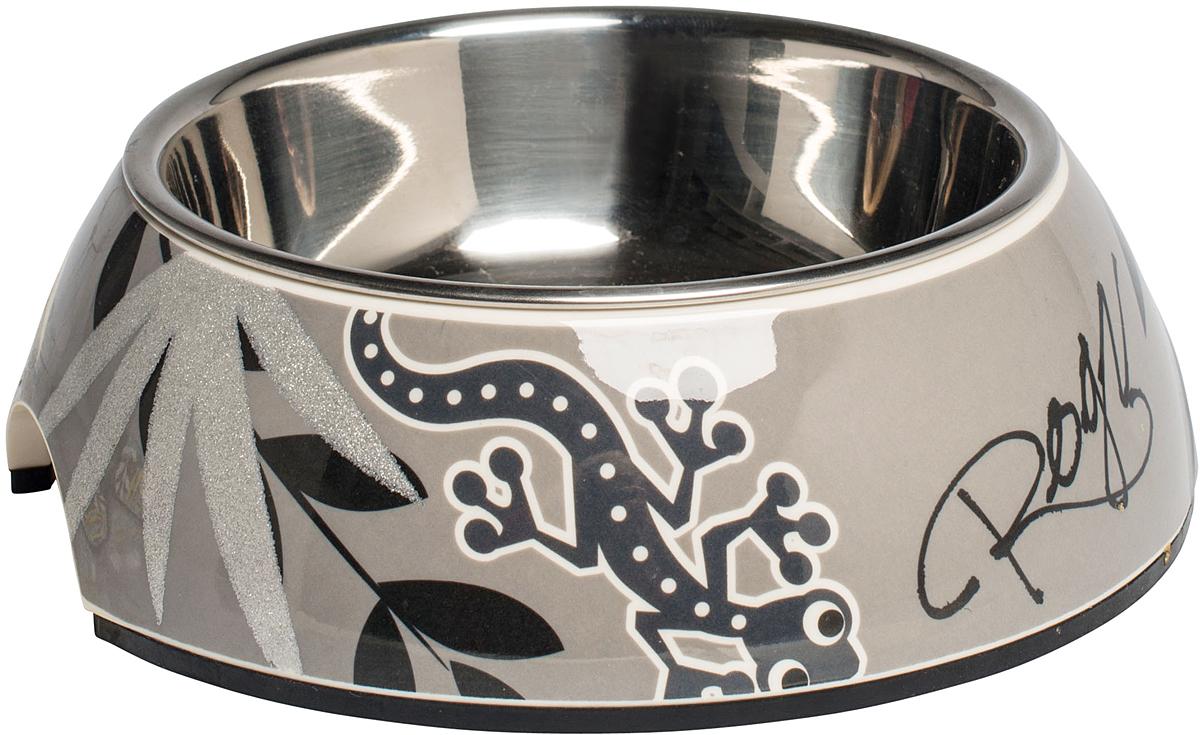 Миска для собак Rogz  Fancy Dress , цвет: серый, 350 мл - Аксессуары для кормления