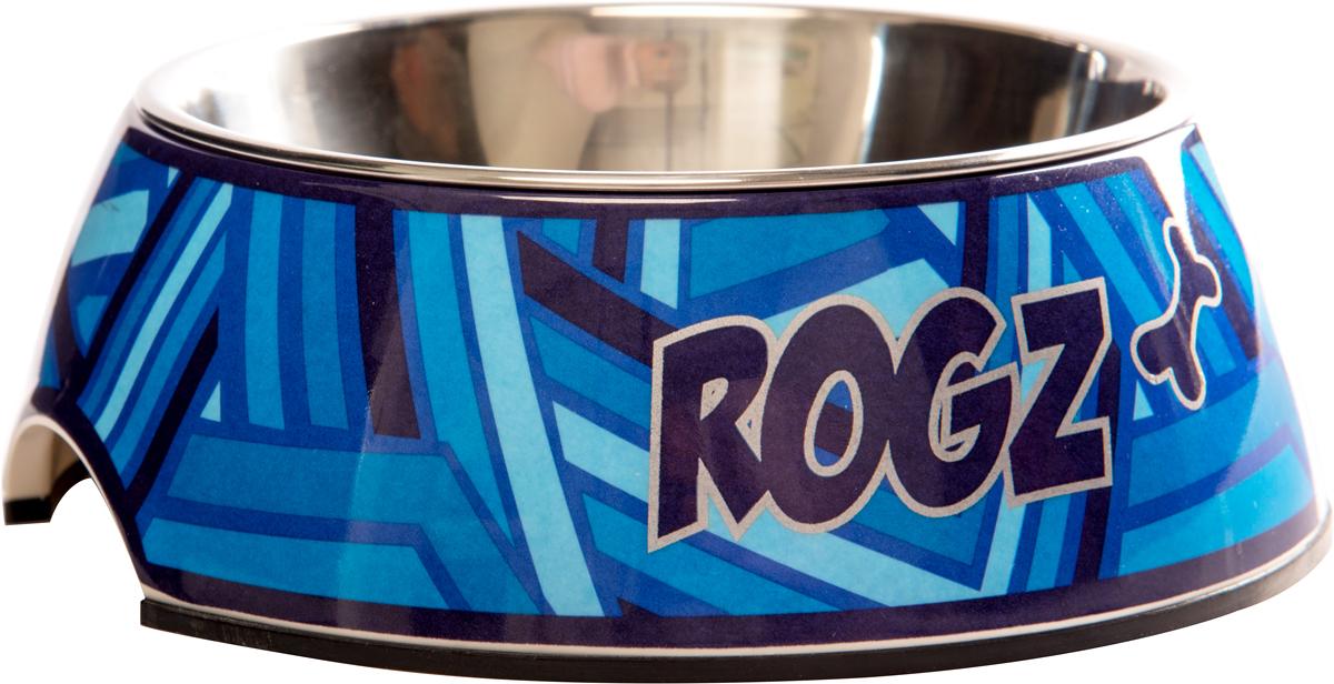 Миска для собак Rogz Fancy Dress, цвет: синий, 350 мл миска для кошек собак гамма n0
