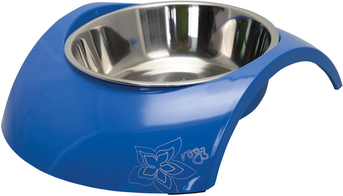 Миска для собак Rogz  Luna , цвет: синий, 350 мл