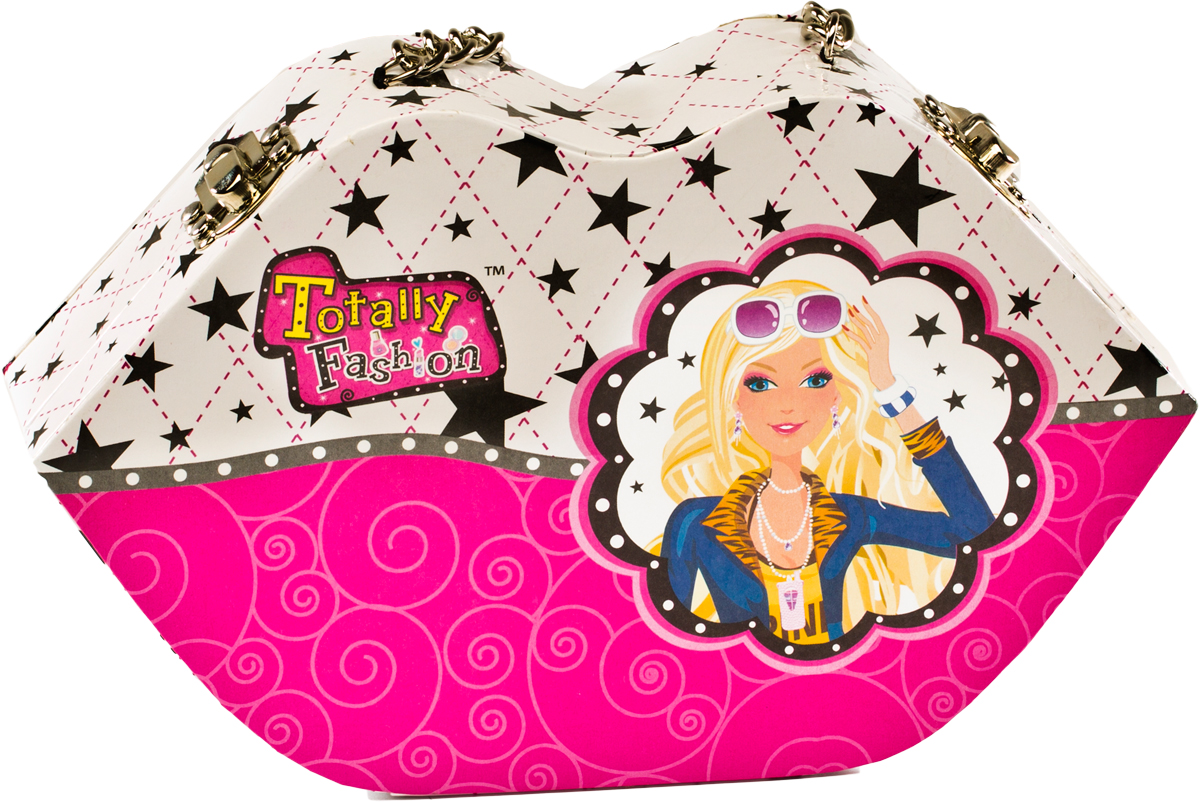 Totally Fashion Набор детской декоративной косметики Стильная сумочка22008В наборе : румяна- 4 тона, блеск для губ- 6 тонов, тени- 4 тона, лак для ногтей- 2 тона, помада- 2 тона, пилочки - 2 шт, кисточка, аппликатор. Имеется ПАСПОРТ БЕЗОПАСНОСТИ МАТЕРИАЛА/ Макияж можно снять, с помощью ватного диска, используя средство для снятия макияжа или просто тёплой водой. Для снятия лака не нужны специальные средства: лак постепенно смывается водой, при мытье рук в течение 2-х дней, или же его можно удалить с помощью детского масла.Данная детская косметика поможет ребенку освоиться в мире макияжа. Данный косметический набор помещен в стильную сумочку, которая будет сочетаться и с джинсами, и с платьем. Маленькая леди сможет поправлять свой макияж во время праздника, если в этом будет необходимость. Также можно будет положить в сумочку что-нибудь другое (салфетки, платок, конфетки). Декоративная косметика легко смывается обычной водой и безопасна для детской кожи