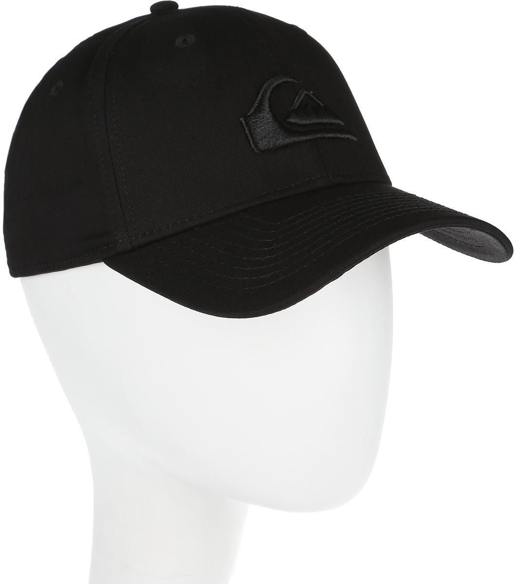 Бейсболка мужская Quiksilver M&W, цвет: черный. AQYHA03487-KVJ0. Размер S/M (54/56)AQYHA03487-KVJ0Стильная бейсболка Quiksilver, выполненная из хлопка, идеально подойдет для прогулок, занятия спортом и отдыха. Изделие оформлено вышивкой с логотипом бренда