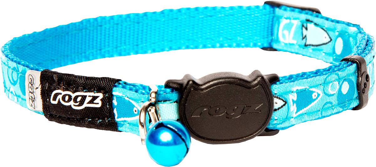 Ошейник для кошек Rogz FancyCat, цвет: голубой, ширина 11 мм. Размер SCB06NОшейник для кошек Rogz FancyCat обладает уникальной системой, присущей только продукции Rogz, позволяющей регулировать степень легкости раскрытия замка при различных нагрузках на замок (в зависимости от размера, веса и степени активности животного). Специально разработанный замок легко расстегивается при натяжении, если это необходимо. Например, если ваш питомец застрял на дереве или на заборе.