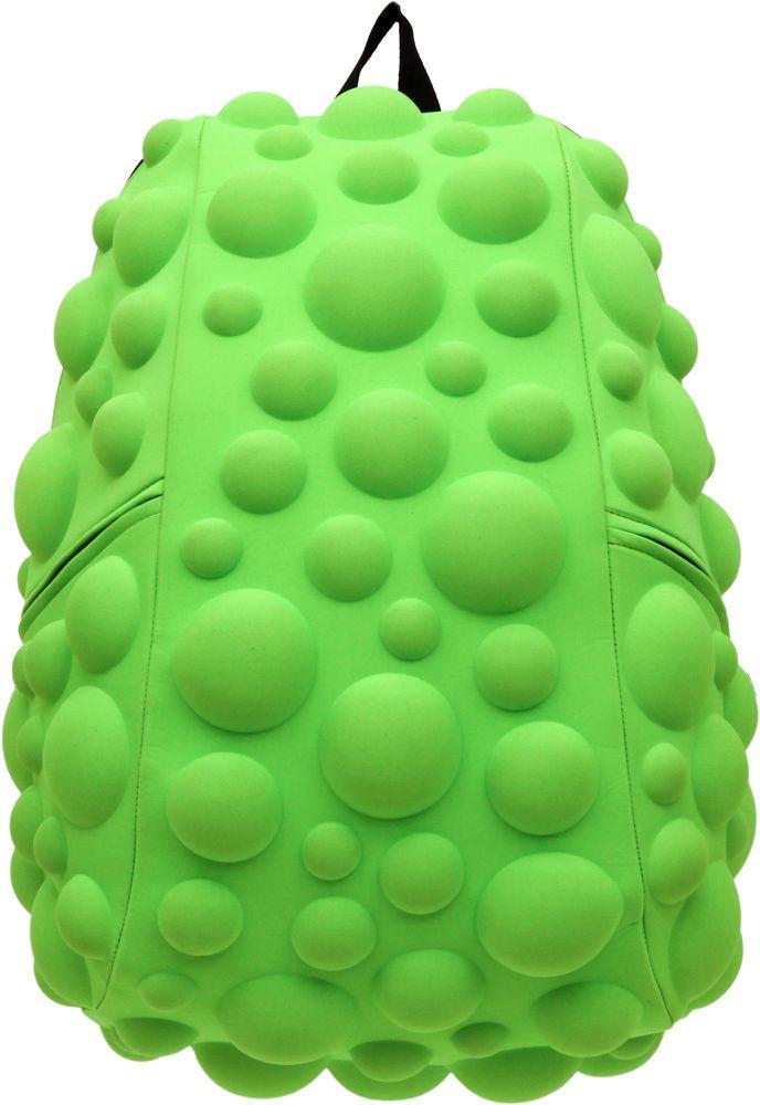 Рюкзак городской MadPax Bubble, цвет: лайм, 32 лKAA24484793Рюкзаки серии Full отлично подойдут для старшеклассников и взрослых. Яркий, с оригинальным 3D дизайном, ортопедической спинкой он станет незаменимым спутником любого школьника и взрослого.Рюкзак MadPax Bubble удобен не только для использования в школе, но и отлично подойдет для катания на роликах, скейтах, велосипедах. Он идеален для всех кто любит активный образ жизни.Все 3D элементы мягкие и вы можете не беспокоится о своей безопасности и безопасности окружающих.Ортопедическая спинка поможет избежать искривления позвоночника. Мягкие воздухопроницаемые широкие лямки (6 см) с нагрудным ремнем правильно распределят вес.Особенности:одно основное отделение на молнииотделение для ноутбука до 17мягкие воздухопроницаемые широкие лямки (6 см)нагрудный ременьортопедическая спинка с мягкой обивкойдва боковых кармана на молнии