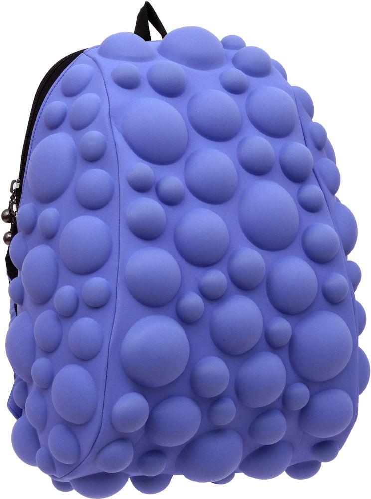 Рюкзак городской MadPax Bubble Half, цвет: сиреневый, 16 лKAB24485072Рюкзаки серии Half отлично подойдут для старшеклассников и младшеклассников. Яркий, с оригинальным 3D дизайном, ортопедической спинкой он станет незаменимым спутником любого школьника.Рюкзак MadPax Bubble Half удобен не только для использования в школе, но и отлично подойдет для катания на роликах, скейтах, велосипедах. Он идеален для всех кто любит активный образ жизни.Все 3D элементы мягкие и вы можете не беспокоится о своей безопасности и безопасности окружающих.Ортопедическая спинка поможет избежать искривления позвоночника. Мягкие воздухопроницаемые широкие лямки (6 см) правильно распределят вес.Особенности: одно основное отделение на молнии отделение для ноутбука до 13, iPadа или формата А4 мягкие воздухопроницаемые широкие лямки (6 см) ортопедическая спинка с мягкой обивкой