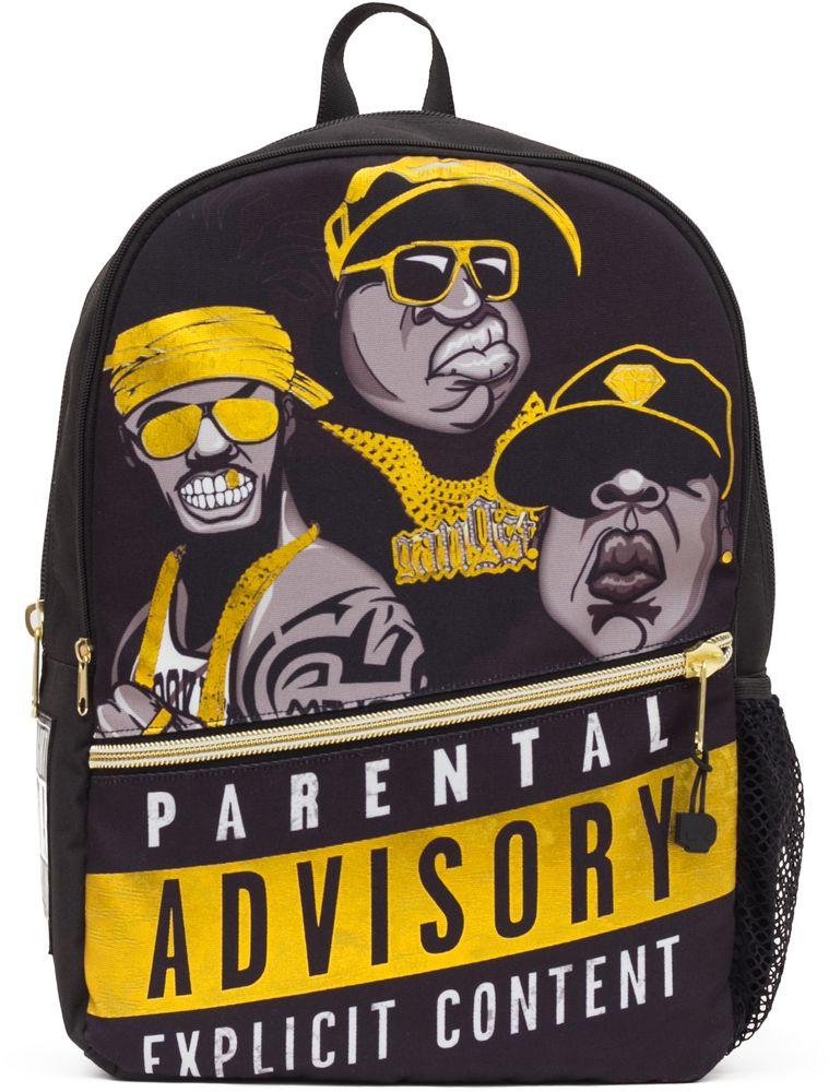 Рюкзак городской Mojo Pax Straight Outta Brooklyn: Rappers, цвет: черный, желтый, 20 л