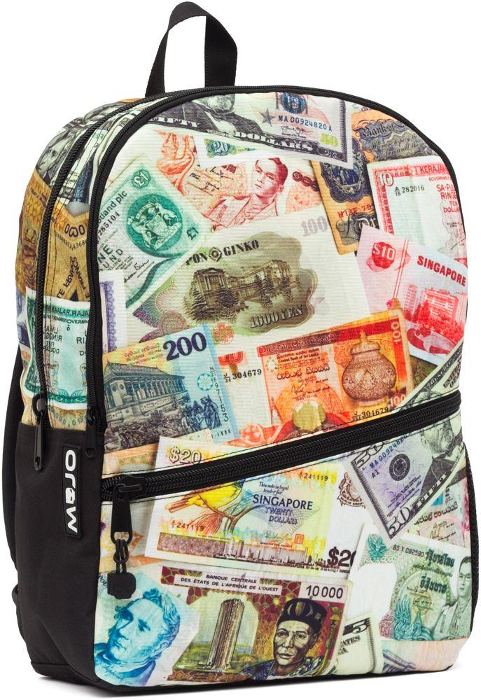 Рюкзак городской Mojo Pax Paper Money, 20 лKAB9985238Городской рюкзак Mojo Pax - для тех, кто привык размышлять и видеть в простых вещах - сложные. Принт приятного спокойного оттенка смотрится еще более загадочно и притягательно. Рюкзак имеет несколько удобных отделений, в том числе - карман для планшетного компьютера. У него усиленная спинка и дно рюкзака, мягкие удобные регулируемые лямки.Размер: 43 x 30 x 16 см.