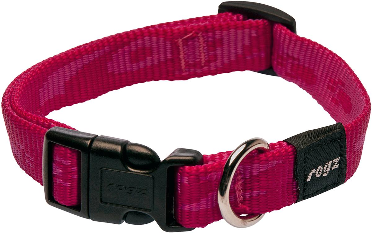Ошейник для собак Rogz Alpinist, цвет: розовый, ширина 1,6 см. Размер MHB19AОшейник для собак Rogz Alpinist представляет собой мягкую нейлоновую ленту, которая обладает высокой прочностью. Особое плетение полотна способствует увеличению уровня прочности и защиты. Специальная конструкция пряжки Rog Loc - очень крепкая (система Fort Knox). Замок может быть расстегнут только рукой человека. Технология распределения нагрузки позволяет снизить нагрузку на пряжки, изготовленные из титанового пластика, с помощью правильного и разумного расположения грузовых колец.Особые контурные пластиковые компоненты. Специальная округлая форма конструкции позволяет ошейнику комфортно облегать шею собаки.Выполненные специально по заказу Rogz литые кольца гальванически хромированы, что позволяет избежать коррозии и потускнения изделия.