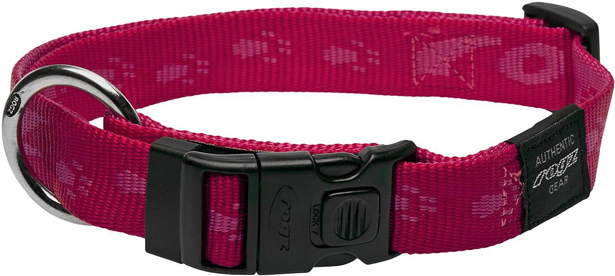 Ошейник для собак Rogz Alpinist, цвет: розовый, ширина 2,5 см. Размер XLIDR27BPОшейник для собак Rogz Alpinist представляет собой мягкуюнейлоновую ленту, которая обладает высокой прочностью.Особое плетение полотна способствует увеличению уровняпрочности и защиты. Пластиковая пряжка очень крепкая,кроме того, снабжена блокировкой, поэтому не можетсамопроизвольно расстегнуться. Изделие снабжено кольцомдля поводка, выполненным методом цинкового литья. Кольцогальванически хромировано во избежание коррозии ипотускнения. Специальная технология распределениянагрузки позволяет снизить нагрузку на пряжку с помощьюправильного и разумного расположения кольца. Ошейниккомфортно облегает шею собаки и не сдавливает ее.Размер ошейника идеален для собак крупных пород, таких какротвейлер, риджбек, лабрадор. Обхват ошейника можнорегулировать.Обхват: 43-70 см.