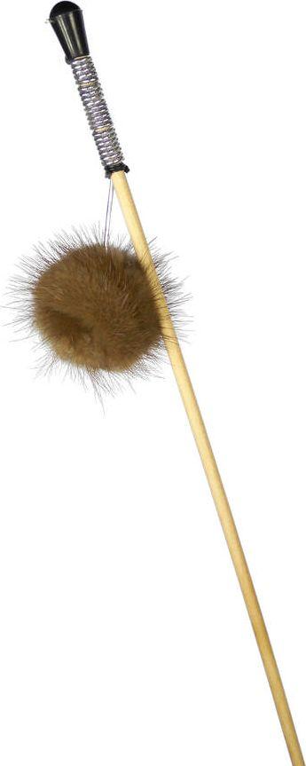 Дразнилка-удочка для кошек GoSi Пушистик из норки, длина 50 смsh-07074MИгрушка-удочка для кошек GoSi представляет собой деревянную палочку, на конце которой прикреплен пушистый помпон, выполненный из норки. Игрушка на резинке, хорошо пружинит и отскакивает. Игрушка поможет развить мускулатуру и реакцию кошки, а также удовлетворит её охотничий инстинкт. Способствует балансировке нервной системы, повышению мышечного тонуса, правильному развитию скелета. Рекомендуется для совместных игр хозяина с питомцем.Длина игрушки: 50 см.