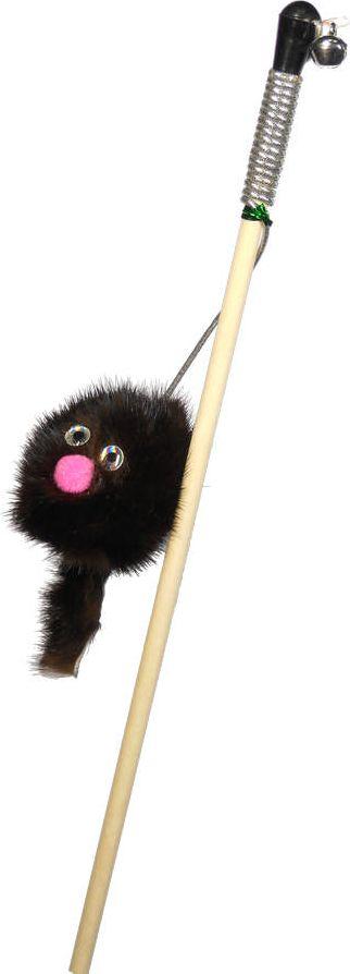 Дразнилка-удочка для кошек GoSi Зверек из норки, длина 50 см игрушка для животных каскад удочка с микки маусом 47 см