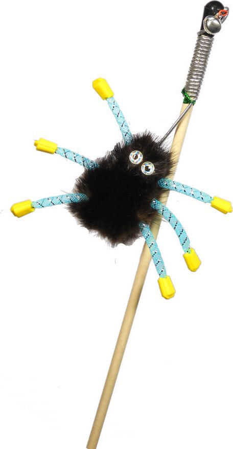 Дразнилка-удочка для кошек GoSi Норковый паук, длина 50 см