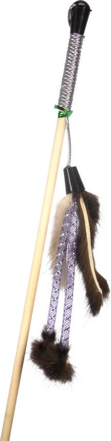 Дразнилка-удочка для кошек GoSi Мышиные хвосты и Трубочки, длина 50 см игрушка дразнилка для кошек glg страус на резинке цвет коричневый 4 см