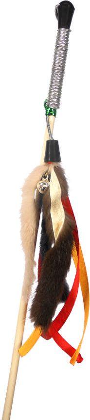 Дразнилка-удочка для кошек GoSi Мышиные хвосты и Ленты, длина 50 см игрушка для животных каскад удочка с микки маусом 47 см