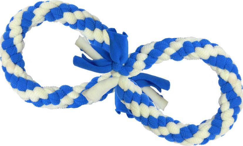 Игрушка жевательная для собак GoSi Bubble Gum. Бесконечность, длина 30 смsh-08031MПлетеная игрушка в виде символа бесконечности изготовлена из прочного качественного материала и абсолютно безопасна для здоровья животного. Подходит для тяговых игр. Способствует укреплению зубов, жевательных мышц, а также нервной системы животного.Длина игрушки: 30 см.