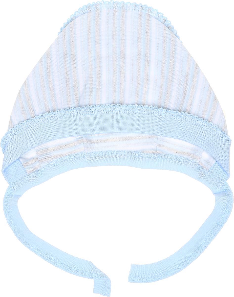 Чепчик Фреш Стайл, цвет: голубой. 39-123. Размер 44, 0-3 года