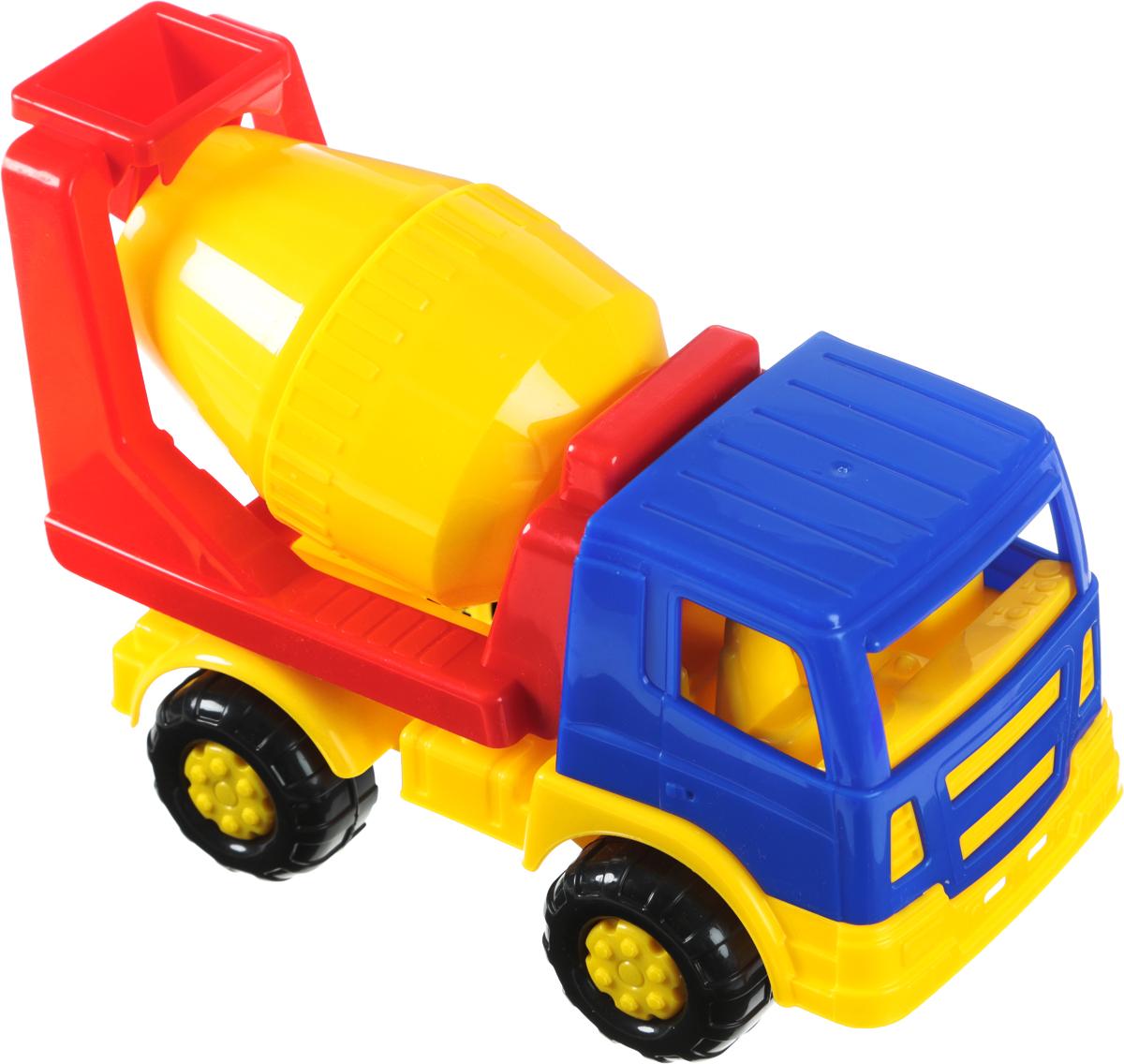 Полесье Автомобиль-бетоновоз Салют цвет кабины синий полесье гоночный автомобиль торнадо цвет желтый