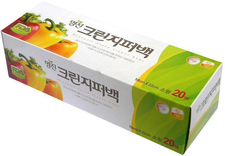 Пакеты для хранения продуктов Myungjin Bags Zipper Type, полиэтиленовые, пищевые, с застежкой-зиппером, 25 x 30 см468111Безопасные, удобные и прочные пакеты изготовлены из полиэтилена высокого давления. Пакеты предназначены для хранения пищевых и непищевых продуктов; очень удобны для хранения сыпучих продуктов и мелких бытовых товаров. Могут использоваться как для подогрева продуктов в СВЧ - печи, так и для заморозки. При этом не теряют своих свойств. Преимущества пакетов с застежкой - зиппером:позволяют быстро и герметично упаковывать как пищевые продукты, в том числе жидкие, так и промышленные товары;надолго сохраняют свежесть продуктов и потребительские качества товаров;блокируют проникновение влаги и неприятных запахов;возможность многократного использования.Пакеты упакованы в картонную коробку с отверстием для удобного их извлечения.Меры предосторожности: не подносите близко к огню. Храните в труднодоступных для детей местах. Острые предметы или инструменты могут повредить пакет. Если продукт в пакете содержит большое количество жира, не разогревайте его в микроволновой печи. Не подвергайте воздействию температур ниже -100°С.